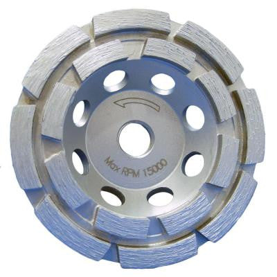 4 in. Double Row Diamond Cup Wheel