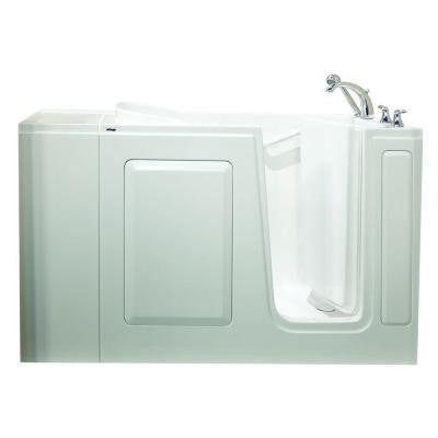 Value Series 48 in. x 28 in. Walk-In Whirlpool Tub in White
