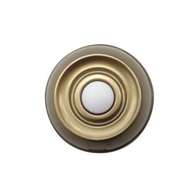 Wireless Push Button - Aged Brass
