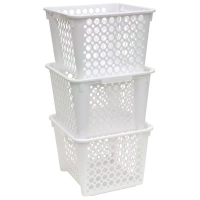 5 gal. White Large Nesting/Stacking Crate