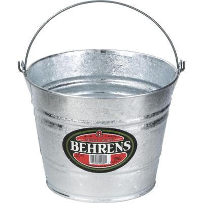 12 Qt. Hot Dipped Steel Pail