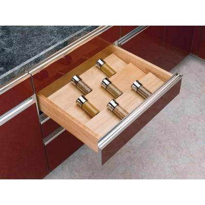 X-Large Wood Cabinet Drawer Spice Insert