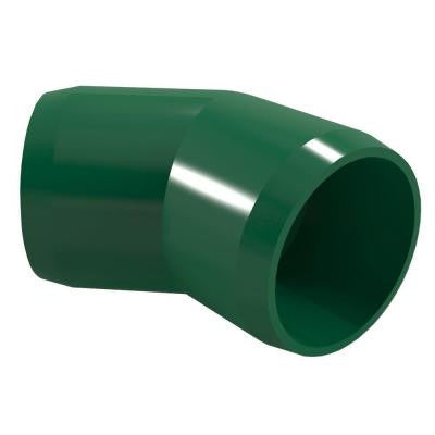 3/4 in. Furniture Grade PVC 45-Degree Elbow in Green (8-Pack)