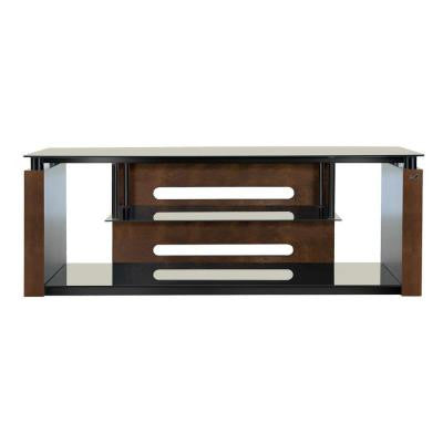 60 in. Freestanding Audio/Video System - High Gloss Black and Espresso