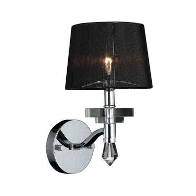 Gatsby 1-Light Polished Chrome Wall Sconce with Clear Crystal