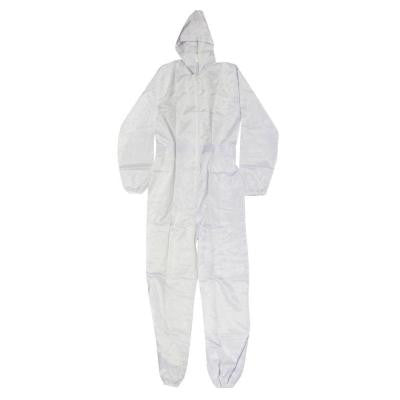 X-Large White Polyester with Carbon Fiber Thread Spray Suit Ultra