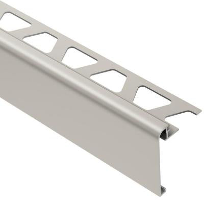 Rondec-Step Satin Nickel Anodized Aluminum 1/2 in. x 8 ft. 2-1/2 in. Metal Tile Edging Trim