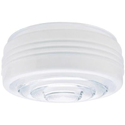 4 in. White and Clear Drum Shade with 8 in. Fitter and 8-3/4 in. Width