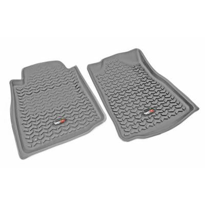 Floor Liner Front Pair Gray 2005-2011 Toyota Tacoma Automatic