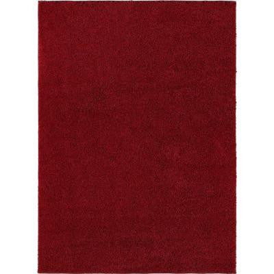 City Shag Red 5 ft. 3 in. x 7 ft. 3 in. Area Rug