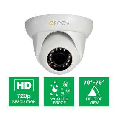 Platinum Series Wired High-Definition 720p Indoor Dome Camera with 65 ft. Night Vision