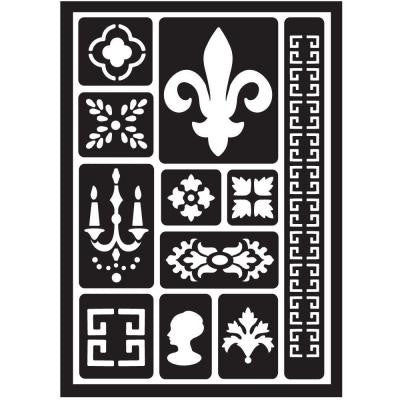 Architectural Fleur-de-Lis Peel and Stick Painting Stencils