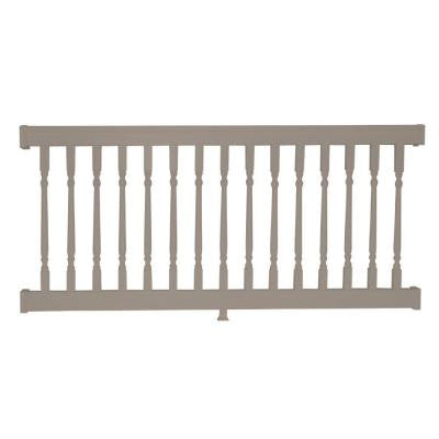 Delray 42 in. x 72 in. Vinyl Khaki Straight Rail Kit