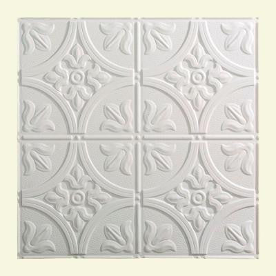 Traditional 2 - 2 ft. x 2 ft. Lay-in Ceiling Tile in Gloss White