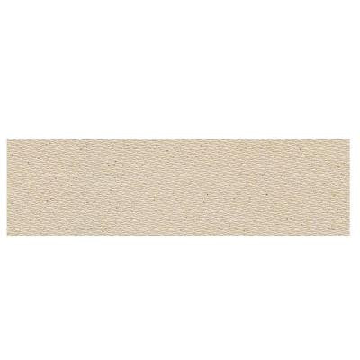 Identity Bistro Cream Fabric 4 in. x 12 in. Polished Porcelain Bullnose Floor and Wall Tile