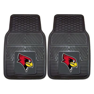 NCAA Illinois State University Heavy Duty 2-Piece 18 in. x 27 in. Vinyl Car Mat