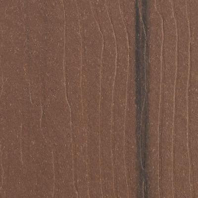 Vantage 1 in. x 5-3/8 in. x 1/2 ft. Walnut Composite Decking Board Sample