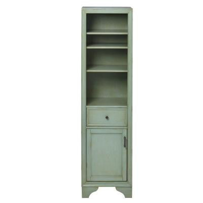 Hazelton 18 in. W x 15 in. D x 67.5 in. H Linen Cabinet in Antique Green