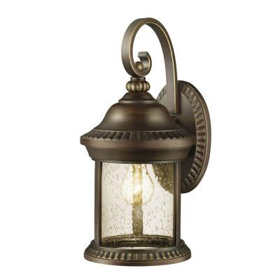 Cambridge Collection 1-Light Outdoor Essex Bronze Large Wall Lantern