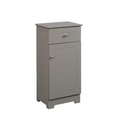 15.75 in. W x 11.75 in. D x 32 in. H Floor Linen Cabinet with Door, Drawer and Adjustable Shelf in Modern Gray