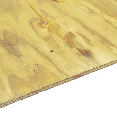 Pressure-Treated Plywood Rated Sheathing (Common: 15/32 in. x 4 ft. x 8 ft.; Actual: .451 in. x 48 in. x 96 in.)