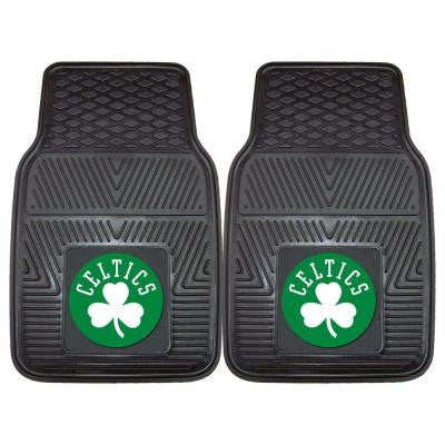 Boston Celtics 18 in. x 27 in. 2-Piece Heavy Duty Vinyl Car Mat