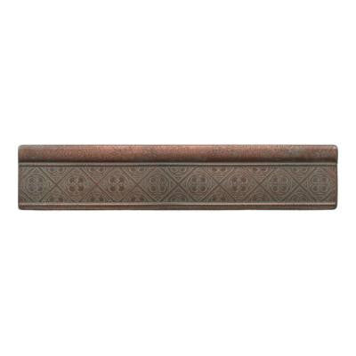 Castle Metals Aged Copper 2-1/2 in. x 12 in. Metal Clover Ogee Wall Tile