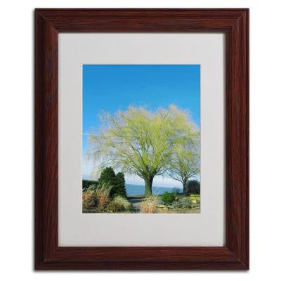 11 in. x 14 in. Wind in The Willow Matted Framed Art