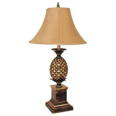 32 in. Pineapple Antique Gold Table Lamp
