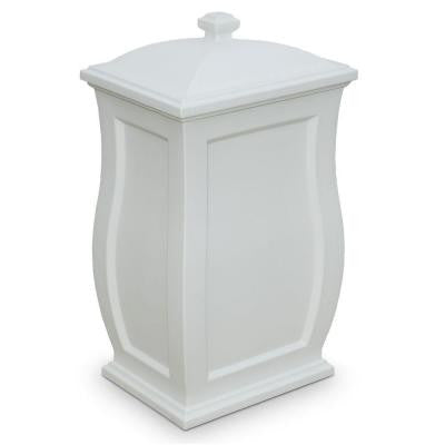 Mansfield 22 Gal. White Trash Can/Storage Bin