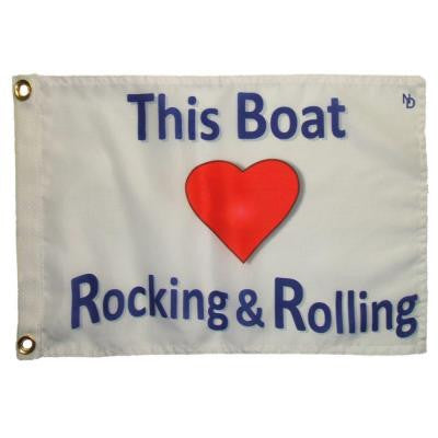 12 in. x 18 in. Rocking and Rolling Funny Flag