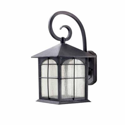 Aged Iron Outdoor LED Wall Lantern