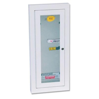Semi-Recess Locked Fire Extinguisher Cabinet