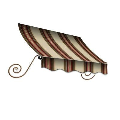 10 ft. Charleston Window/Entry Awning (18 in. H x 36 in. D) in Brown/TerraCotta