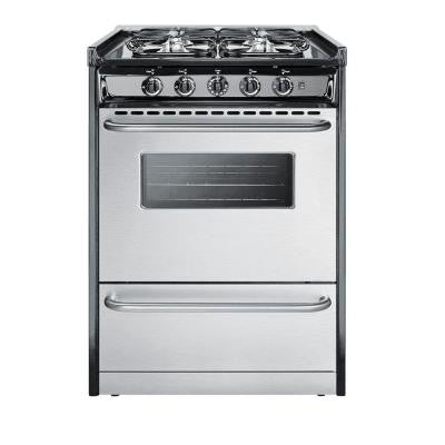 24 in. 2.9 cu. ft. Slide-In Gas Range in Stainless Steel