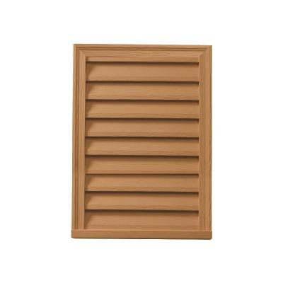 20 in. x 30 in. x 2 in. Polyurethane Timber Functional Vertical Louver Gable Vent