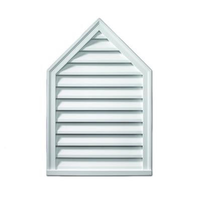18 in. x 24 in. x 2 in. Polyurethane Functional Peaked Louver Gable Vent