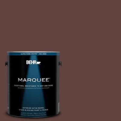 1-gal. #MQ1-54 Death by Chocolate Satin Enamel Exterior Paint