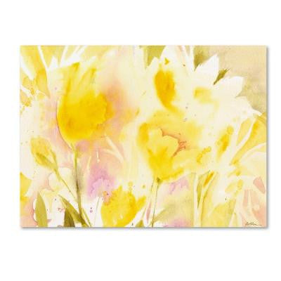 22 in. x 32 in. Yellow Gardens Canvas Art