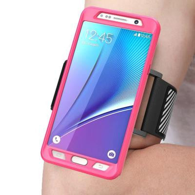 Galaxy Note 5 Flexible Sport Armband and Case Combo - Pink