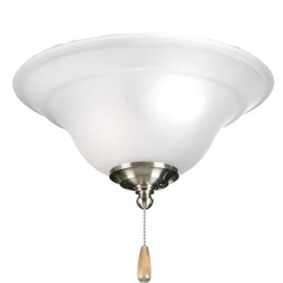 Trinity Collection 3-Light Brushed Nickel Ceiling Fan Light