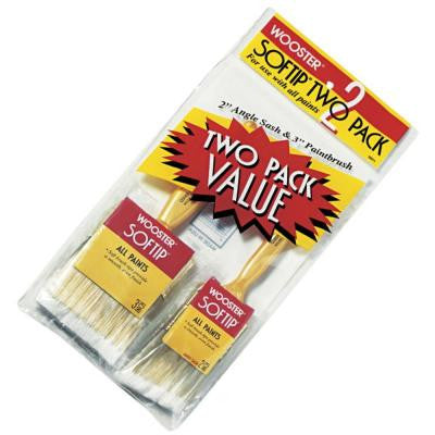 2 in. Angle Sash, 3 in. Flat Softip Paint Brush Set