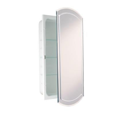 16 in. x 30 in. Recessed V-Groove Beveled Eclipse Medicine Cabinet
