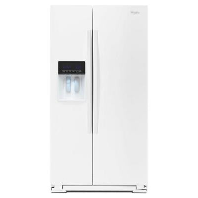 20.6 cu. ft. Side by Side Refrigerator in White, Counter Depth