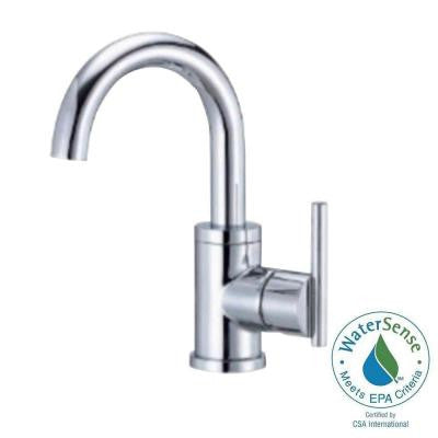 Parma Single Hole 1-Handle Mid-Arc Bathroom Faucet with Side Handle in Chrome (DISCONTINUED)