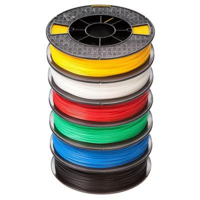ABS PLUS Premium 1.75 mm White, Black, Red, Blue, Yellow, Green Filament (6-Pack)