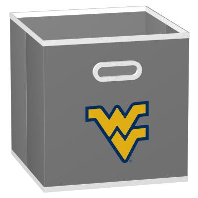 College Storeits West Virginia University 10-1/2 in. x 11 in. Grey Fabric Storage Drawer