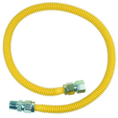 ProCoat 3/4 in. FIP x 1/2 in. MIP x 36 in. Stainless Steel Gas Connector 5/8 in. O.D. (125,000 BTU)