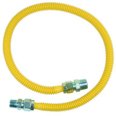 ProCoat 3/4 in. MIP x 1/2 in. MIP x 36 in. Stainless Steel Gas Connector 5/8 in. O.D. (125,000 BTU)