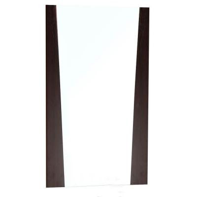 24-in. W x 33.5-in. H Modern Plywood-Melamine Wood Mirror In Wenge